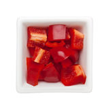 Diced red bell pepper Stock Photography
