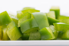 Diced Red, Green & Yellow Pepper Stock Photos