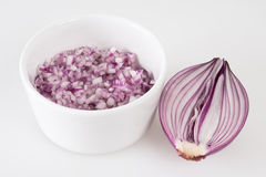 Diced red onion Royalty Free Stock Image