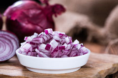 Diced Red Onion Stock Photography