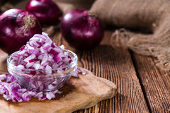 Diced Red Onion Royalty Free Stock Images