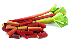 Diced rhubarb Stock Photography