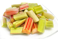Diced rhubarb Royalty Free Stock Images