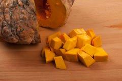 Diced ripe orange pumpkin Royalty Free Stock Image