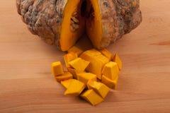 Diced ripe orange pumpkin Royalty Free Stock Photo