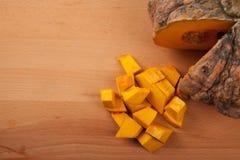 Diced ripe orange pumpkin Stock Image