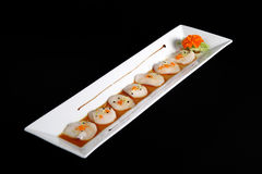 Diced scallops royalty free stock images