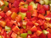 Diced sweet Bulgarian pepper Royalty Free Stock Images
