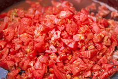 Diced tomatos Royalty Free Stock Image