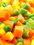 Diced vegetables. Close up of diced vegetables Royalty Free Stock Photography