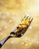 Diced vegetables. Food, gastronomy, cuisine,cookery Stock Photos
