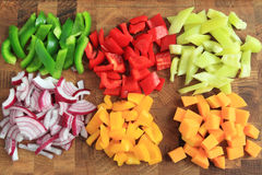 Diced vegetables Stock Photo