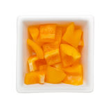 Diced yellow bell pepper Stock Photos