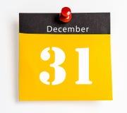 31 dicembre Immagine Stock