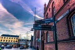 4 dicembre 2016: Al municipio di Roskilde, la Danimarca Fotografia Stock