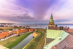 3 dicembre 2016: Castello di Kronborg e di Helsingor, Danimarca Immagine Stock