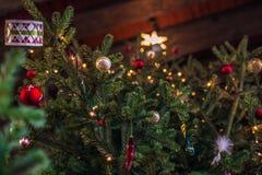 3 dicembre 2016: Decorazioni di Natale dentro il castello di Kronborg, Immagini Stock