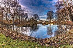 4 dicembre 2016: I giardini di Roskilde, Danimarca Fotografia Stock Libera da Diritti
