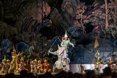 12 dicembre 2015, Khon è dramma di ballo del mascherato di classico tailandese, Fotografia Stock