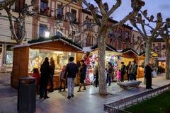 5 dicembre 2016: Mercato di Natale Immagine Stock Libera da Diritti