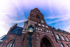 4 dicembre 2016: Municipio di Roskilde, Danimarca Immagini Stock Libere da Diritti