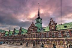 5 dicembre 2016: Scambio del fondo antico di Copenhaghen, Danimarca Immagine Stock