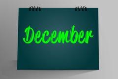 Dicembre scritto in calendario da tavolino royalty illustrazione gratis