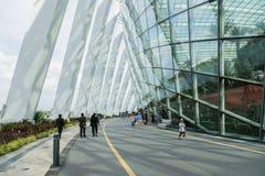 8 dicembre 2016 Singapore costruzione nei giardini del parco Fotografia Stock Libera da Diritti