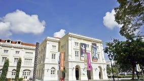 1° dicembre 2014, Singapore, Singapore: Lasso di tempo panoramico aggiornato del museo del posto dell'imperatrice di Singapore stock footage