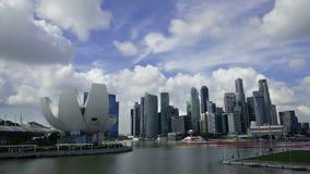 1° dicembre 2014, Singapore, Singapore: Vista aggiornata del paesaggio di Singapore con Art Musuem archivi video