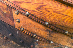 4 dicembre 2016: Struttura di legno di una nave di Viking in Viking Immagini Stock Libere da Diritti
