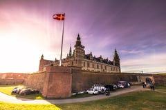 3 dicembre 2016: Vista panoramica del castello di spirito di Kronborg Fotografia Stock Libera da Diritti