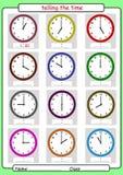 Dicendo il tempo, che cosa è il tempo, illustrazione vettoriale
