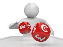 Dicer - serie dei dadi di valuta Illustrazione di Stock