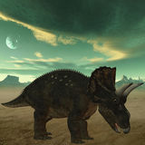 Diceratops-3D Dinosaur Royalty Free Stock Images