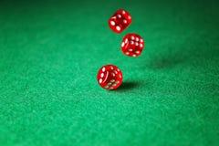 dices зеленая таблица Стоковые Изображения
