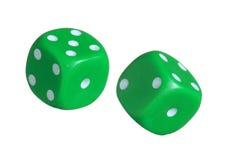 dices зеленый цвет Стоковое фото RF