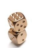 dices золотистый покер Стоковая Фотография RF