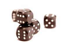 dices играть в азартные игры Стоковая Фотография
