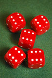 dices красный цвет Стоковые Фото