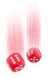 dices красный цвет Стоковое Изображение