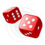 dices красный цвет иллюстрация вектора