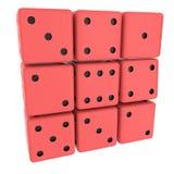 dices красный цвет Стоковая Фотография RF