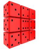 dices красный цвет Стоковые Фотографии RF