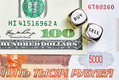 Dices кубы, ПРОТИРКА, USD банкнот стоковые изображения rf