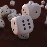 dices падать Стоковые Изображения RF