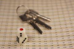 2 dices с ключами Стоковые Фотографии RF