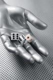dices футуристическая играя в азартные игры метафора руки Стоковые Изображения RF