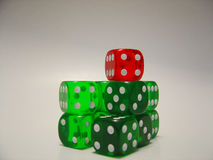 Dices 1. A few transparent dices Royalty Free Stock Image