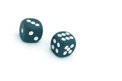Dices. Pair of dice on white background royalty free stock photography